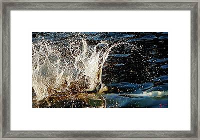 Water Flash  Framed Print