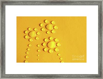 Water Flowers Framed Print