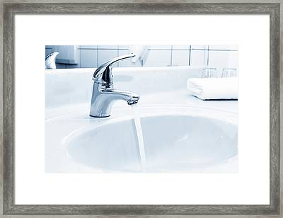 Water Flowing From A Tap Framed Print