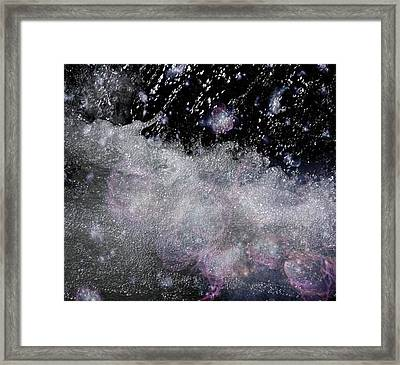 Water Flowing Into Space Framed Print