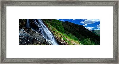 Water Flowing Over Rocks, Sourmilk Framed Print