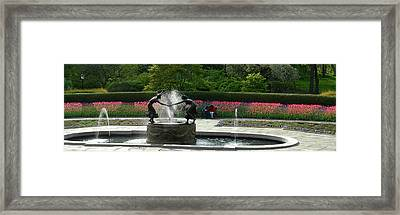 Framed Print featuring the photograph Water Fountain In Central Park by Yue Wang