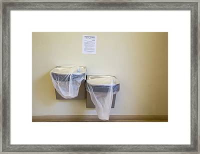Water Fountains And Public Health Warning Framed Print