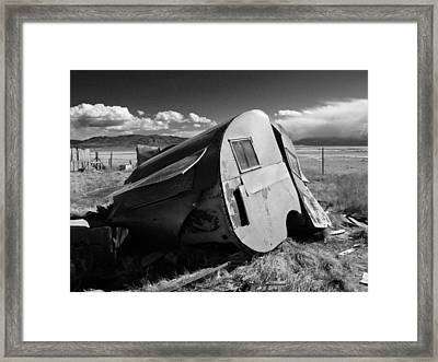 Framed Print featuring the photograph Water Front Property On A Ghost Lake by David Bailey