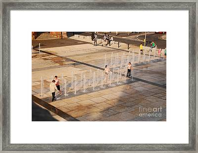Framed Print featuring the photograph Water Fun by Mary Carol Story