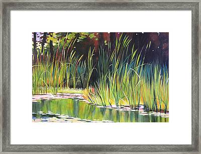 Water Garden Landscape II Framed Print by Melody Cleary