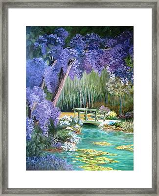 Water Garden Framed Print by Teresita Hightower