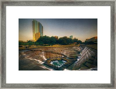 Water Gardens Active Pool Framed Print