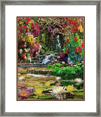 Water Gardens Framed Print