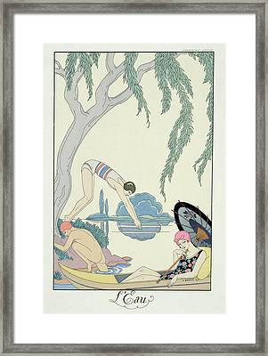 Water Framed Print by Georges Barbier