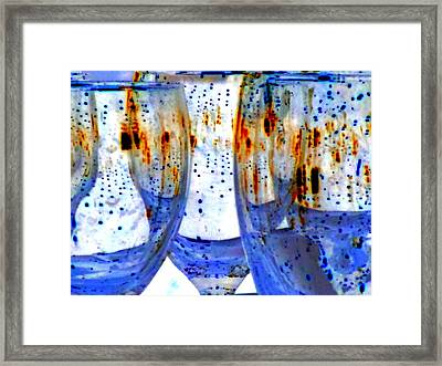Water Glasses 3 Framed Print by Randall Weidner