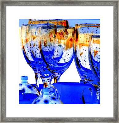 Water Glasses 4 Framed Print by Randall Weidner