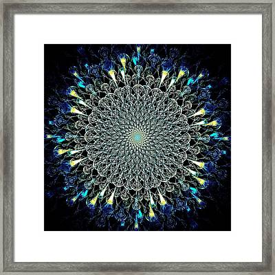 Water Glyph Framed Print