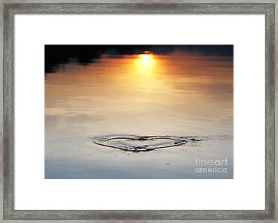 Water Heart Ripple Framed Print by Tim Gainey
