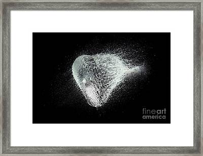 Water Heart Framed Print by Tim Gainey