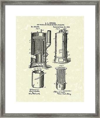 Water Heater 1893 Patent Art Framed Print