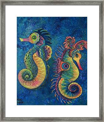 Water Horses Framed Print