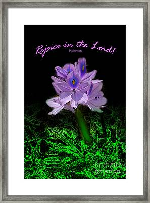 Water Hyacinth - Psalm 97 Framed Print