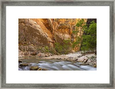 Water In The Narrows Framed Print by Bryan Keil