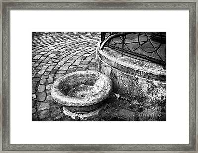 Water In The Square Framed Print by John Rizzuto