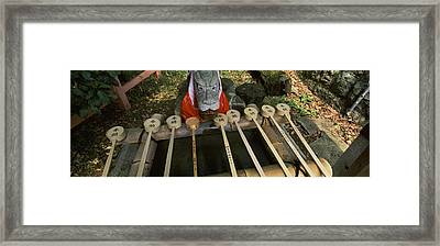 Water Ladles In A Shrine, Fushimi Framed Print by Panoramic Images