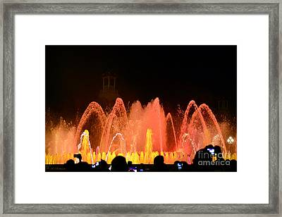 Water Light And Music In Barcelona 06 Framed Print by Arik Baltinester