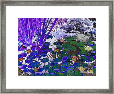 Water Lilies Blue Framed Print