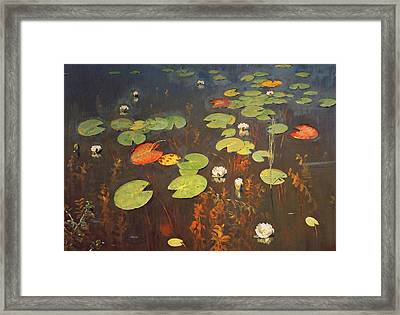 Water Lilies Framed Print by Isaak Ilyich Levitan