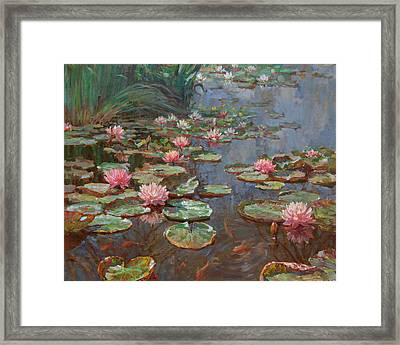 Water Lilies Framed Print by Korobkin Anatoly
