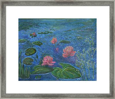 Framed Print featuring the painting Water Lilies Lounge 2 by Felicia Tica
