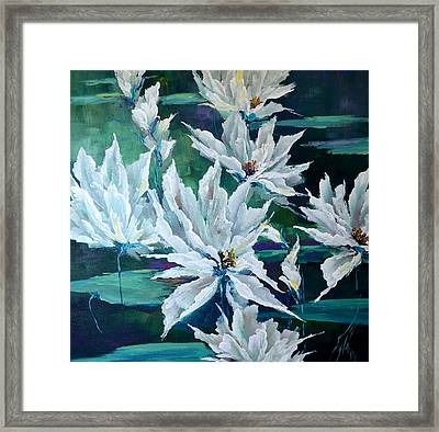 Water Lilies Framed Print by Steven Nevada