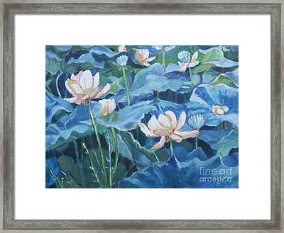 Water Lilies Two Framed Print