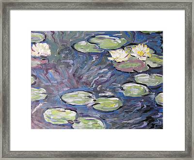 Framed Print featuring the painting Water Lilies by Vikram Singh