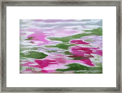 Water Lily Framed Print by Donna Blackhall