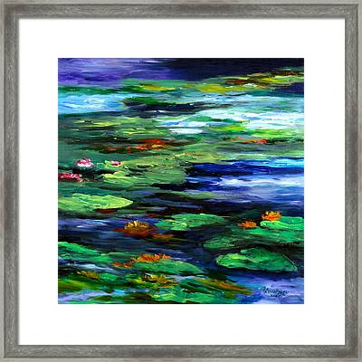 Water Lily Somnolence Framed Print