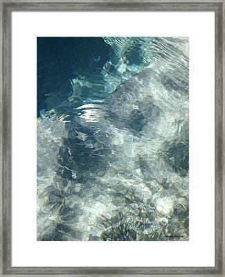 Water Framed Print by Marian Palucci-Lonzetta