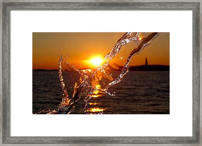 Water Mark Framed Print by Donnie Freeman