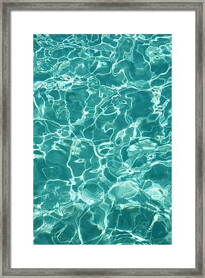 Water Meditation I. Five Elements. Healing With Feng Shui And Color Therapy In Interior Design Framed Print