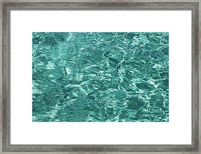 Water Meditation Iv. Five Elements. Healing With Feng Shui And Color Therapy In Interior Design Framed Print