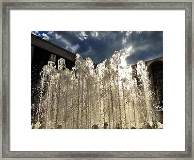 Water Meet Sky Framed Print by Donald Groves