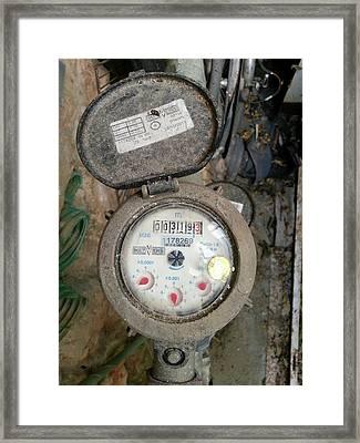 Water Meter Framed Print