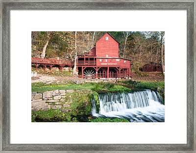 Water Mill In Missouri Framed Print