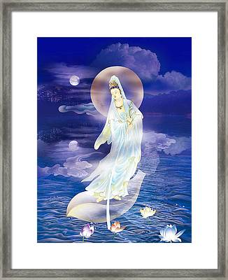 Water Moon Avalokitesvara  Framed Print by Lanjee Chee
