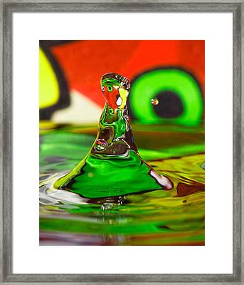 Framed Print featuring the photograph Water Mountain by Peter Lakomy