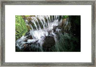 Water Noise And Light Framed Print by Phil Nolan