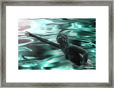 Water Nymph Framed Print by Michelle Orai