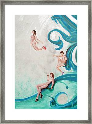 Water Nymphs Framed Print by Lorinda Fore and Tony Lima