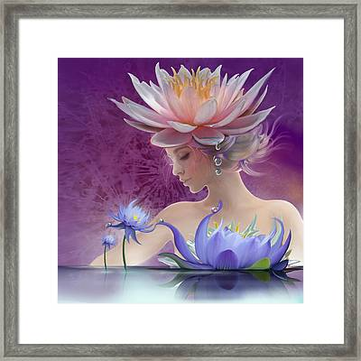 Water Of Life - In Violet Framed Print by Anna Ewa Miarczynska
