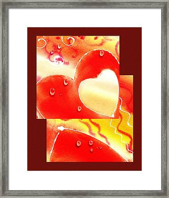 Water On Color Collage Two Framed Print by Irina Sztukowski