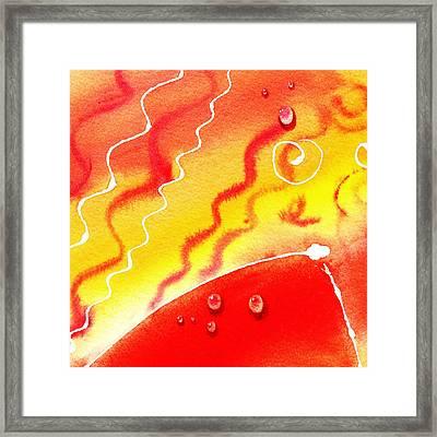 Water On Color Design One Framed Print by Irina Sztukowski